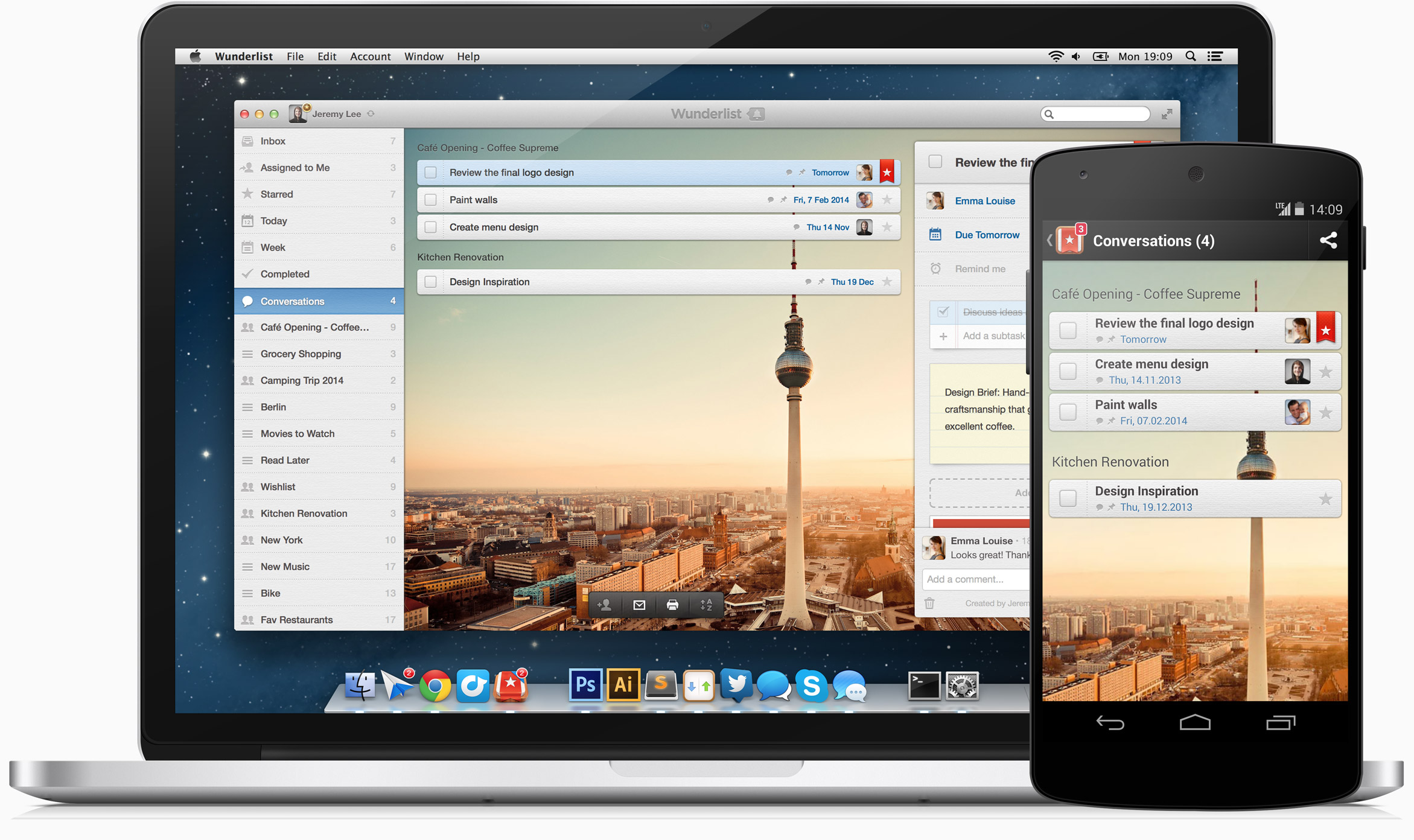 wunderlist online work management application